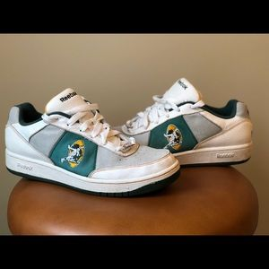 Green Bay Packers Retro Reebok Sneakers, Size 11